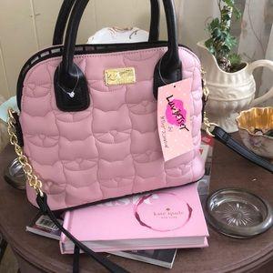 NWT Betsy Johnson Blush satchel LBDARCIE